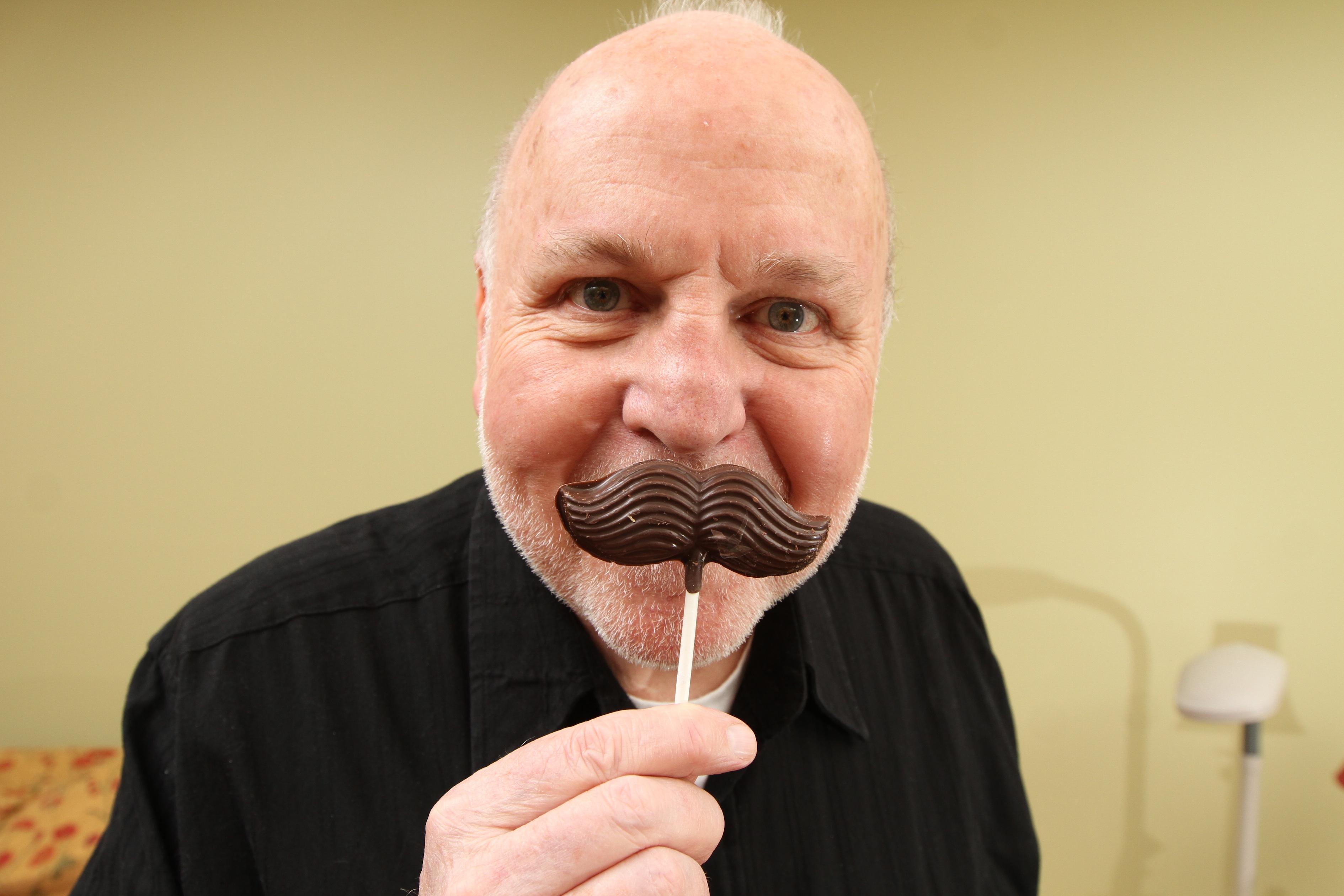 "Photoâ€""J. Patrick Lewis with Chocolate Mustache"